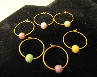 Wine Charms Gold 11
