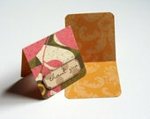 Mini thank you cards - Mustard Dot, set of 18