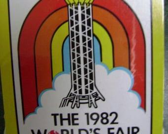 Vintage Unopened Deck of Cards, 1982 World's Fair Souvenir, Rainbow Rocket, Playing Cards, Ephemera Supplies, Game, Roadtrip Vacation