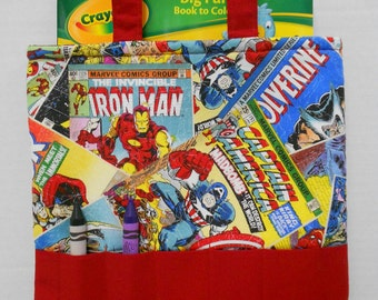 Avengers Crayon Tote