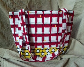 Canary in a Red Room - Large Cotton Dual Strapped Purse - was 40, now 30