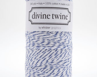 Full Spool - 240 Yards - Blueberry - Navy - Baker's Twine
