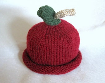 Cranberry Hat, Knit Fruit Baby Hat great photo prop