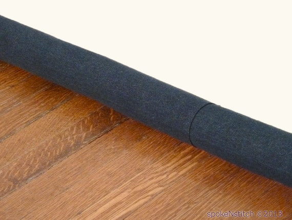 Door draft stopper door snake extra long dark denim for Door draft stopper