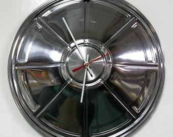 1972 - 1976 Plymouth Valiant Wall Clock - Mopar Hubcap - 1973 1974 1975