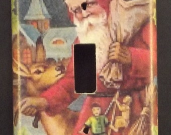 Victorian Santa Switchplate Cover - Free Shipping - 1011HOLI