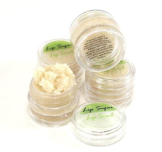 Lip Sugar Lip Scrub Enriched with Argan, Jojoba and Shea Butter .25 oz jar