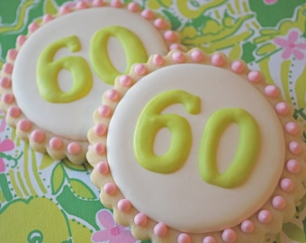 Preppy Personalized Decorated Sugar Cookies (12)
