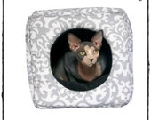 Custom Made Damask Pet Cube CUSTOM Fabric and Color Choices, Custom Sizes