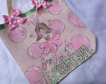 Hand Painted Ballerina Dance Bag