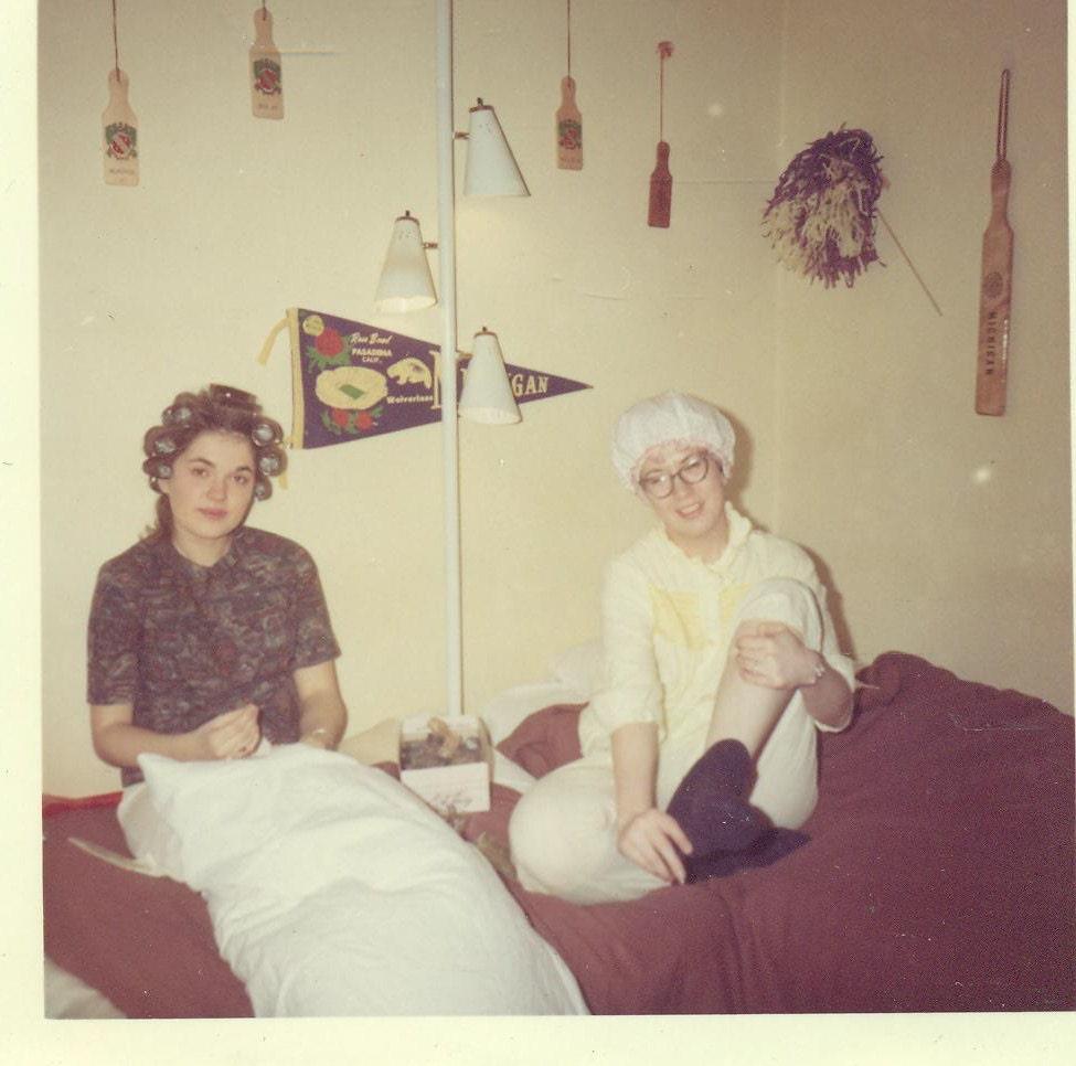 1960s College Sorority Girls Hair in Curlers by AlaskaVintage
