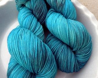 Annabel Lee --Classic Sock--Hand Painted Superwash Merino Wool/Nylon Sock Yarn