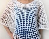 Circular Mesh Poncho - PDF Crochet Pattern - Instant Download