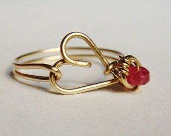 Pink Sapphire Ring   Sapphire Ring   Sapphire Jewelry   14K Gold Filled Ring