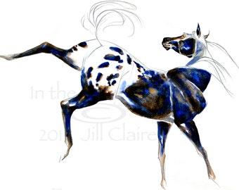 Appaloosa Horse Art Painting Print Jill Claire Original