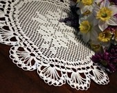 Beautiful Crochet Two Flower Doily