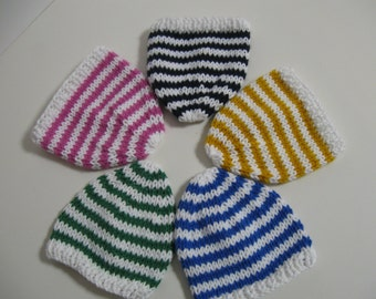 American Girl Doll -  Handknit Slouch hats Brights