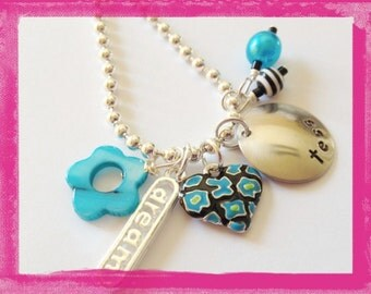 Jewelry for Kids - Hand Stamped and Personalized DREAM Necklace for Children