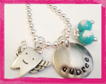 TOOTH FAIRY Personalized Necklace - Hand Stamped for Kids #P210