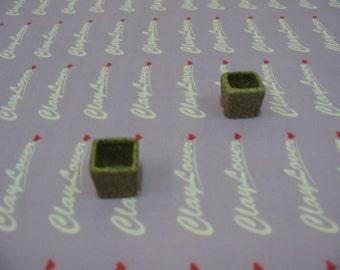 Miniature Square Flower Pot