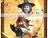 Primitive Halloween Postcard - Bella Luna
