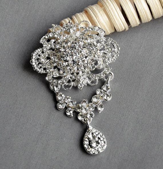 SALE Rhinestone Brooch Crystal Brooch Bridal Brooch Bouquet Hair Comb Shoe Clip Pin Wedding Cake Decoration Invitation BR094