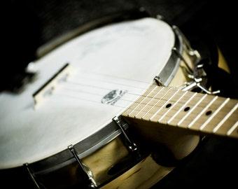 Banjo 8x12 color print of musical stringed instrument
