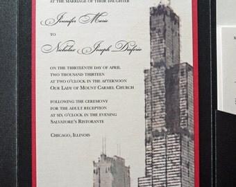 Sears/Willis Tower - Custom Pocket Invitation - Folded A7