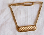 Vintage Swank Tie Bar with chain
