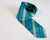 Vintage Turquoise and teal necktie by Bachrach