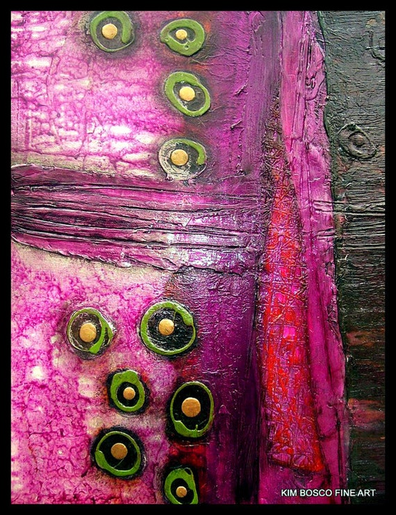 Abstract painting- Original modern fine art mixed media