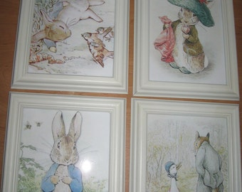 Peter Rabbit and Friends by Beatrix Potter - Four Prints