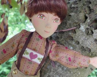 OOAK Original Custom order Mary Magpie MudCakes art doll boy