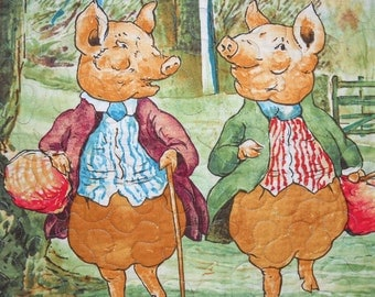 Beatrix Potter's Pigling Bland Hand-made Quilt