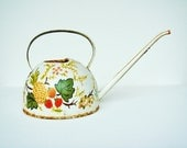 1960s/70s Rusty Small Watering Can -  Shabby Chic- Hand Painted Decorative Hippie Houseware