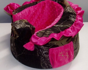 Baby Play Seat Bumbo Camo Girl cover, w/monogram deer