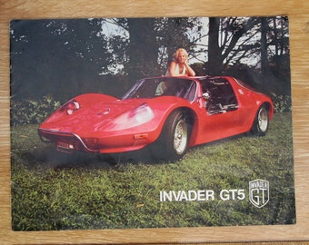 1975 Invader GT5 Kit Car booklet brochure, Autokit for VW Bug chassis, Ad