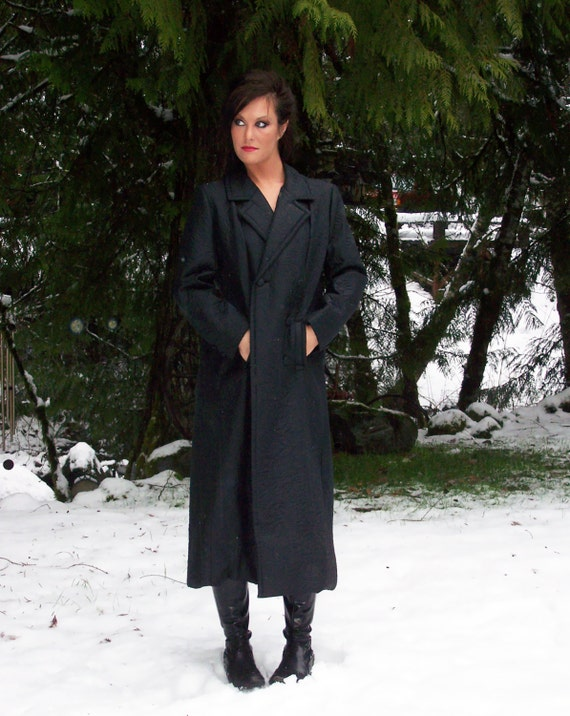 Elegant Stunning  Vintage JOSEPH LAROSE 1940s  Black Dressy Coat