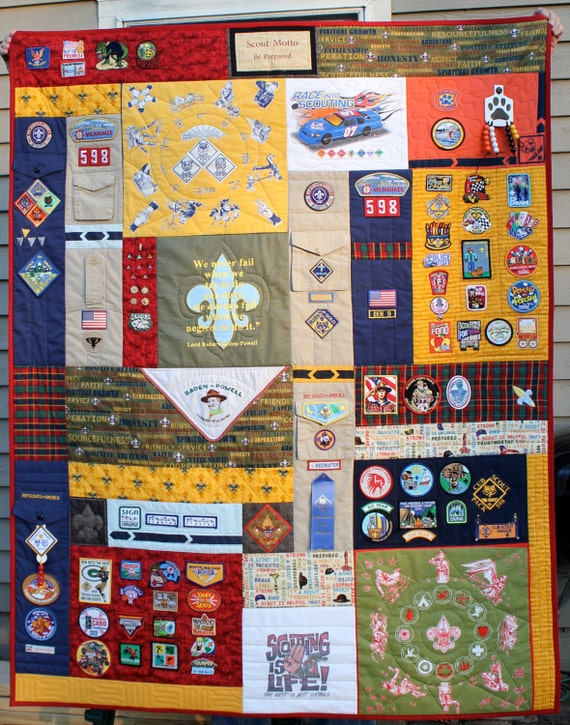 Custom Order For Angelique Boy Scout Memory Quilt Balance