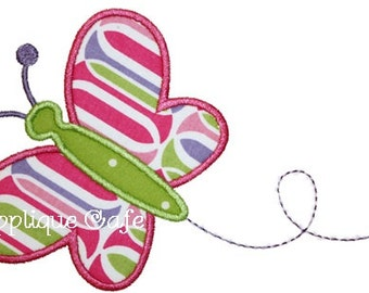 418 Butterfly Machine Embroidery Applique Design
