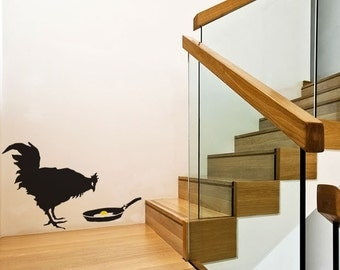 Banksy Chicken & Egg Wall Stickers