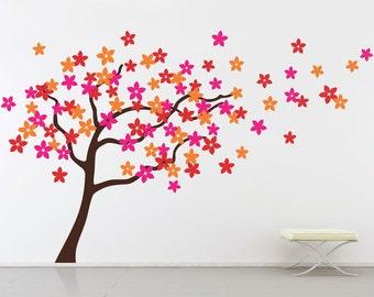 Flower Tree Wall Stickers