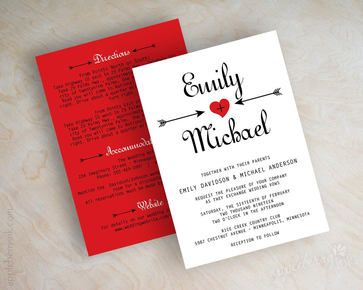 Different wedding Invitations Blog: Unique red wedding invitations