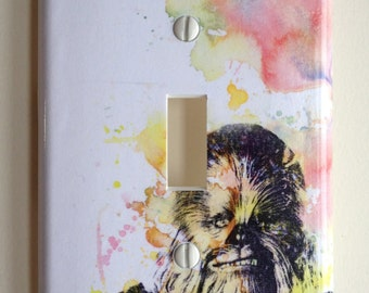 Chewbacca Star Wars Art Decorative Light Switch Plate Cover
