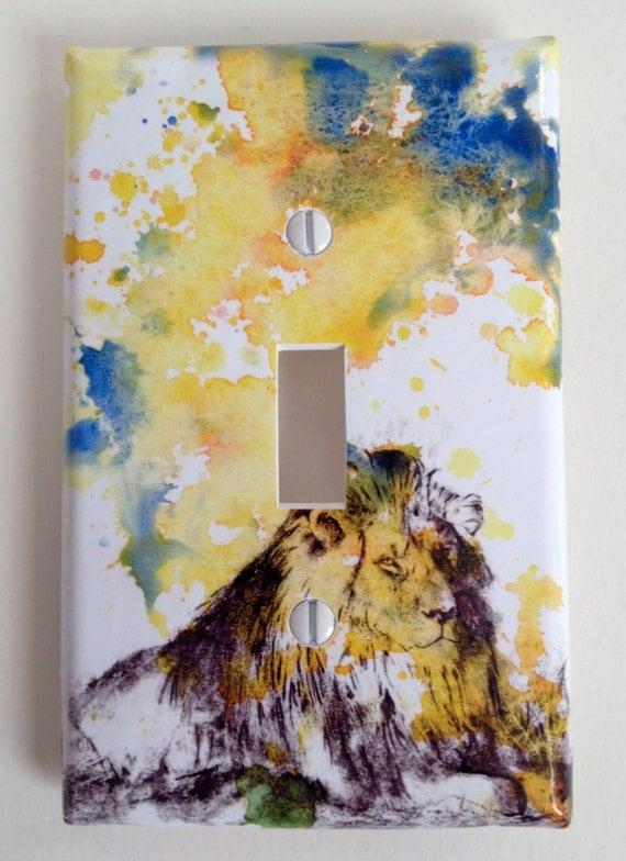 Lion Light Switch Kids Room