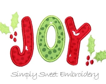 JOY 2 Machine Embroidery Applique Design