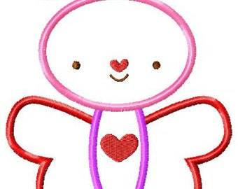 Butterfly Heart Machine Embroidery Design