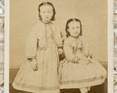 CDV Antique Photograph- Sisters Harrisburg Pennsylvania