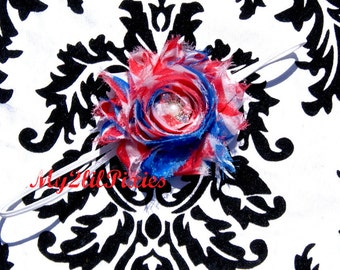 Forth Of July Headband -Baby Girl Headband-  Newborn Headband Toddler Headband- Photo Prop