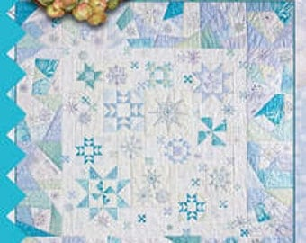431 Snow Flurries Hand Embroidery Quilt Pattern by Crabapple Hill Studios Winter Snowflakes